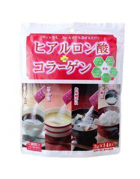 ヒアルロン酸+コラーゲン粉末 14袋入 新日配薬品 コラーゲンドリンク 美容ドリンク