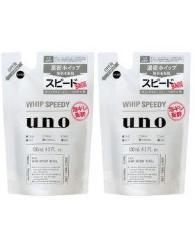 UNO(ウーノ)ホイップスピーディー(泡洗顔) 詰め替え用 130mL×2個 資生堂