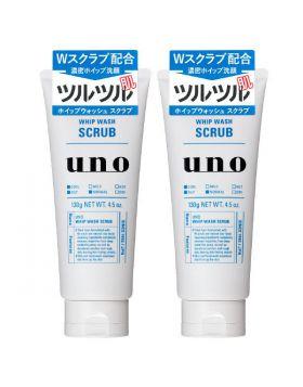UNO(ウーノ)ホイップウォッシュ(洗顔料)スクラブ 130g×2個 資生堂