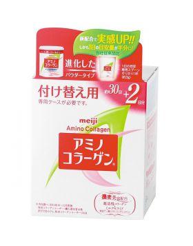 アミノコラーゲン パウダータイプ 付け替え用 約30日+2日分 96g 明治 サプリメント